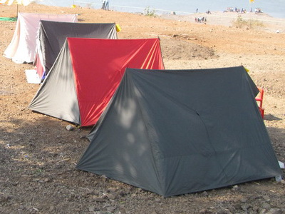 A frame 4 man tent with Full Outer